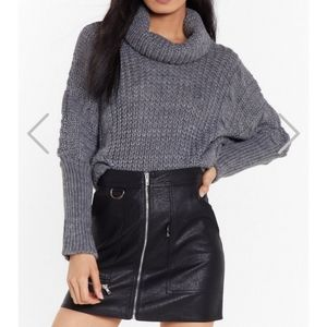 Nasty Gal Oversized Cowl Neck Sweater